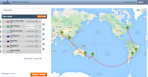 """My route on Indie Look familiar? This is where the image on my """"Itinerary"""" page is from."""