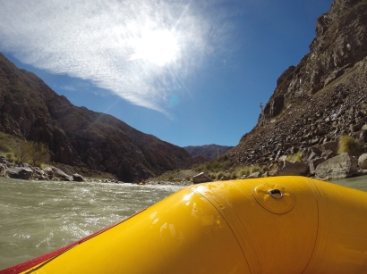 Rafting on Rio Mendoza