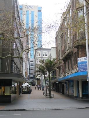 Pedestrian street in Auckland