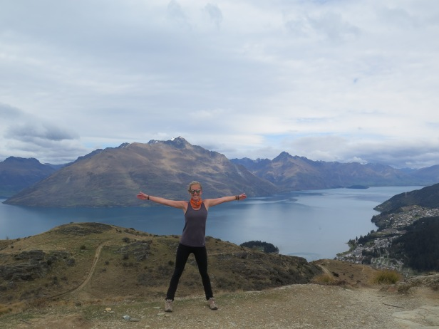 On top of Queenstown Hill