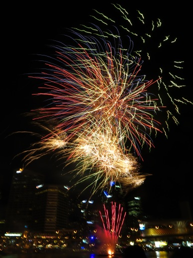 Fireworks over Darling Harbour