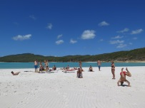 Playing on Whitehaven Beach
