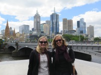 Kelly and Me in front of the Yarra and the skyline