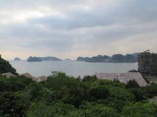 The view of Lan Ha Bay from behind our huts