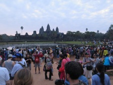 Everyone at Angkor Wat at sunrise