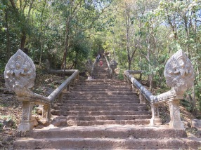 Climbing up to Wat Banan