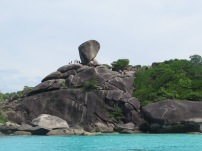 The famous Similan Islands rocks