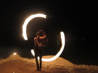 Fire spinning practice
