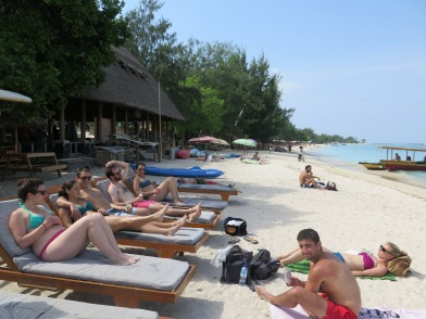 Lounging on Gili T