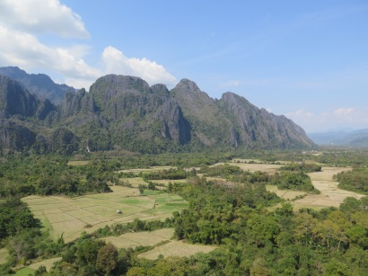 Mountains near Vang Vieng