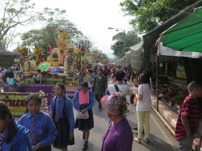 Flower Festival floats and market