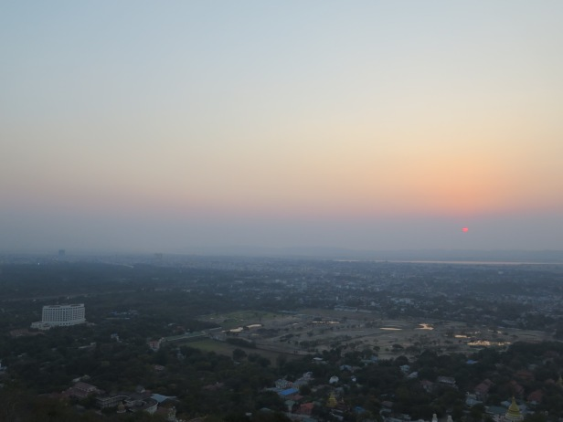 Sunset over Mandalay