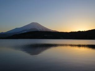 Sunset at Lake Yamanaka