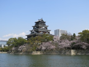 Hiroshima Castle across the river