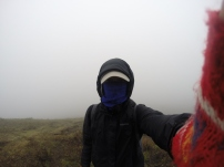 Hiking in a cloud