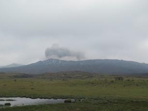 Volcano smoking