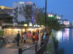 Yatai on the river