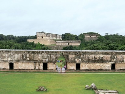 Looking at the Uxmal Palace