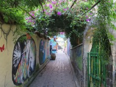 Murals and flowers