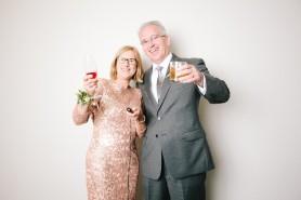 Mom and Dad celebrating